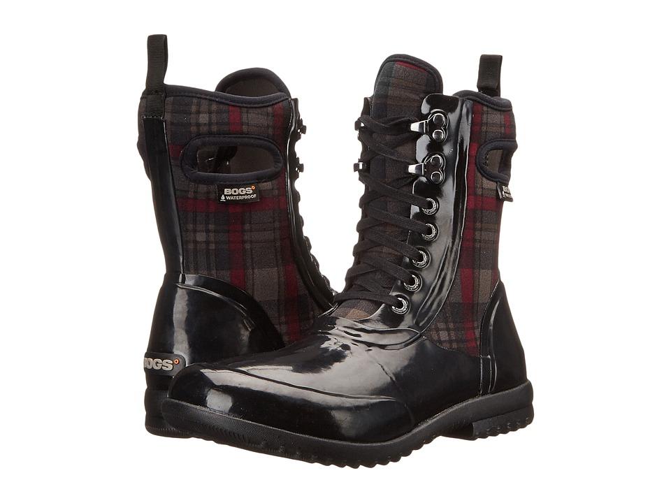 Bogs - Sidney Lace Plaid (Black Multi) Women's Rain Boots
