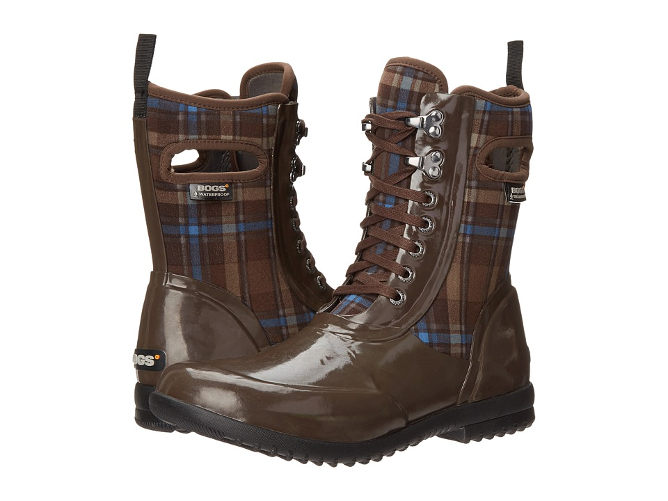 Bogs Sidney Lace Plaid (Brown Multi) Women
