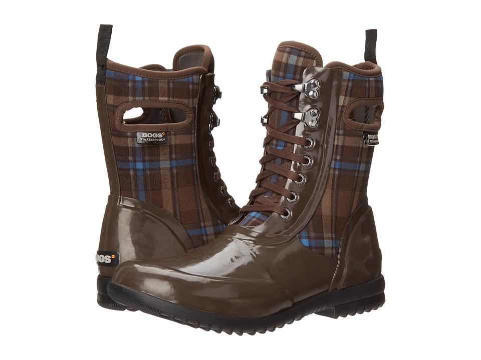 Bogs - Sidney Lace Plaid (Brown Multi) Women's Rain Boots