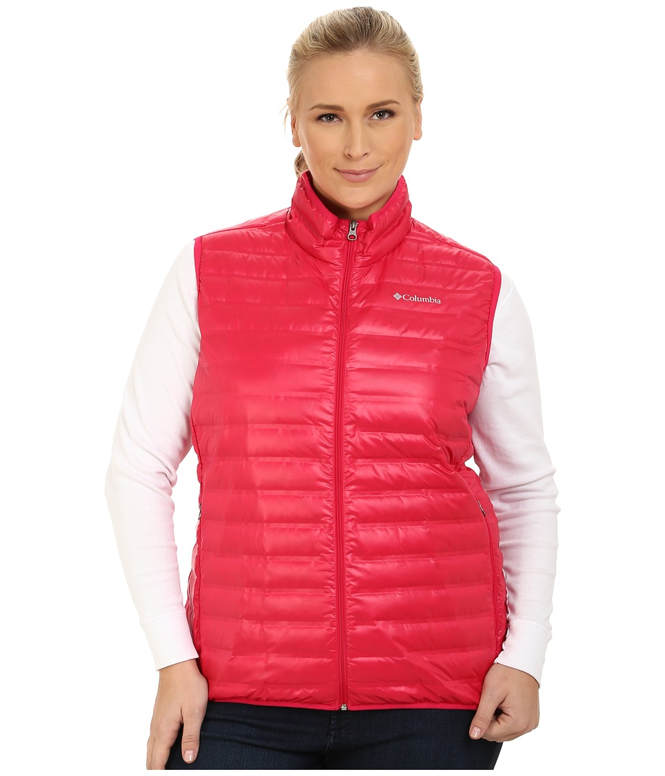 Columbia - Plus Size Flash Forward Down Vest (Ruby Red) Women's Vest