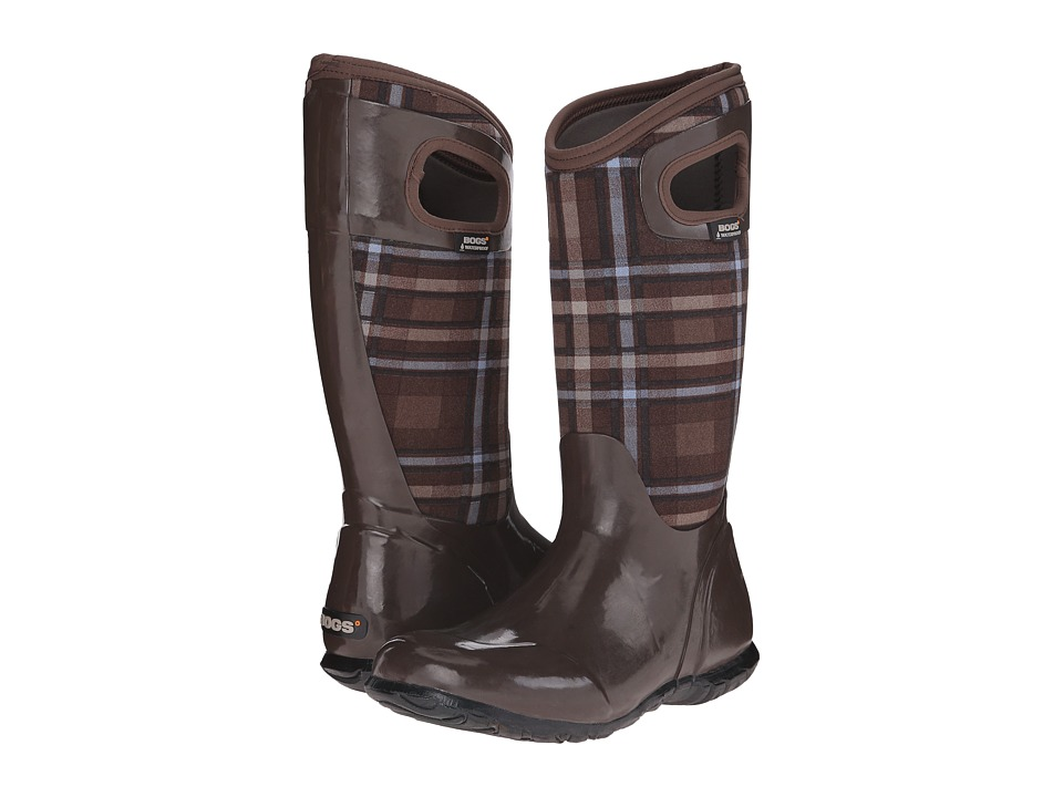 Bogs - North Hampton Plaid (Brown Multi) Women's Rain Boots