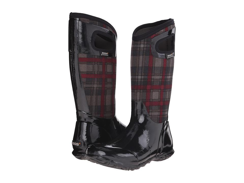Bogs - North Hampton Plaid (Black Multi) Women's Rain Boots