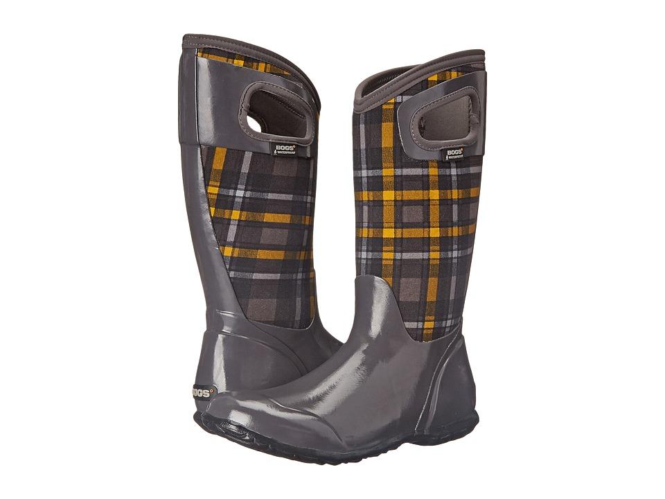Bogs - North Hampton Plaid (Dark Gray Multi) Women's Rain Boots