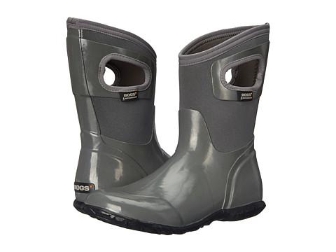Bogs - North Hampton Solid Mid (Gray) Women's Rain Boots