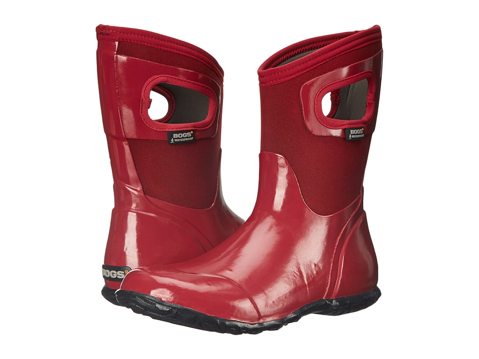 Bogs North Hampton Solid Mid (Red) Women