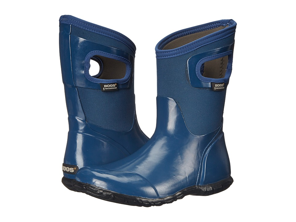Bogs North Hampton Solid Mid (Blue) Women