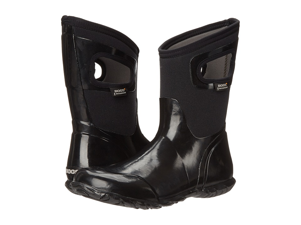 Bogs - North Hampton Solid Mid (Black) Women's Rain Boots