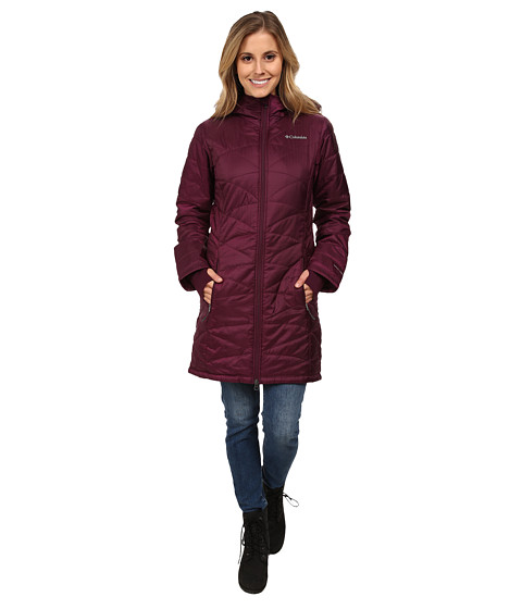 Columbia - Mighty Lite Hooded Jacket (Purple Dahlia) Women