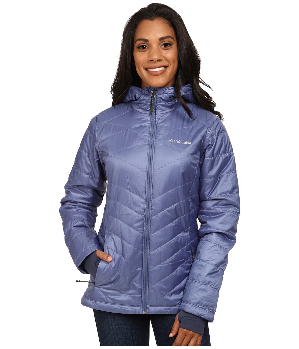 Columbia - Mighty Lite Hooded Plush Jacket (Bluebell) Women's Coat