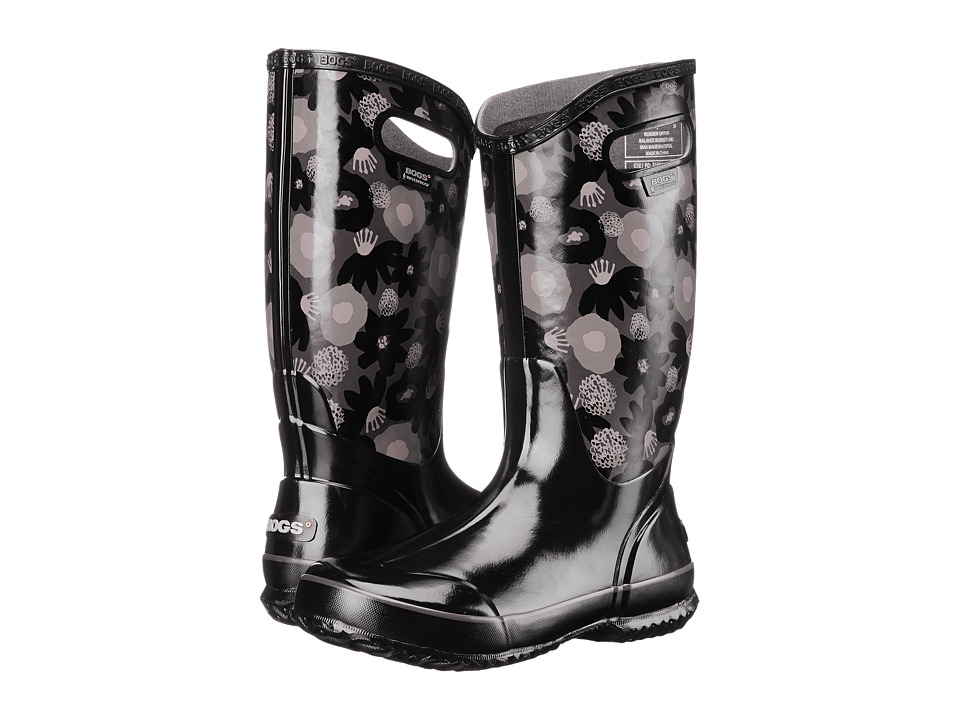 Bogs Watercolor Rain Boot (Black Multi) Women