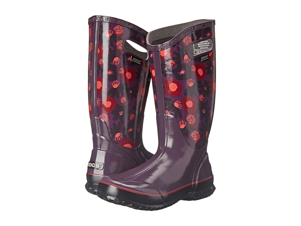 Bogs - Watercolor Rain Boot (Plum Multi) Women