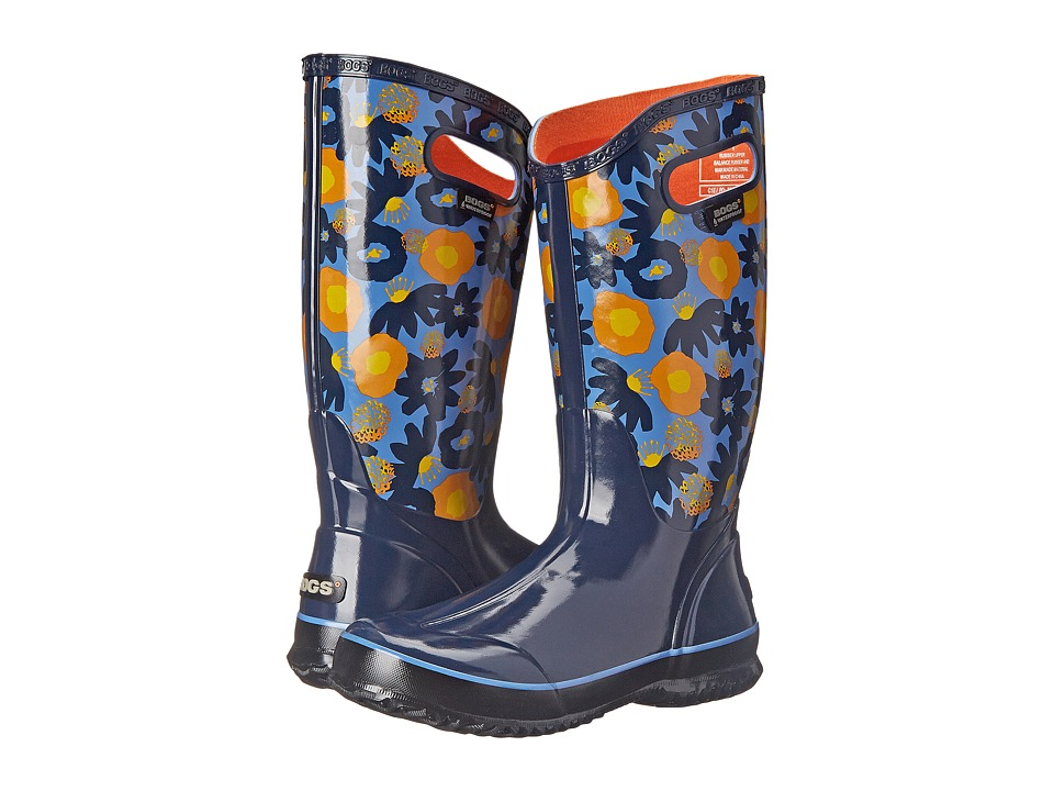 Bogs Watercolor Rain Boot (Dark Blue Multi) Women