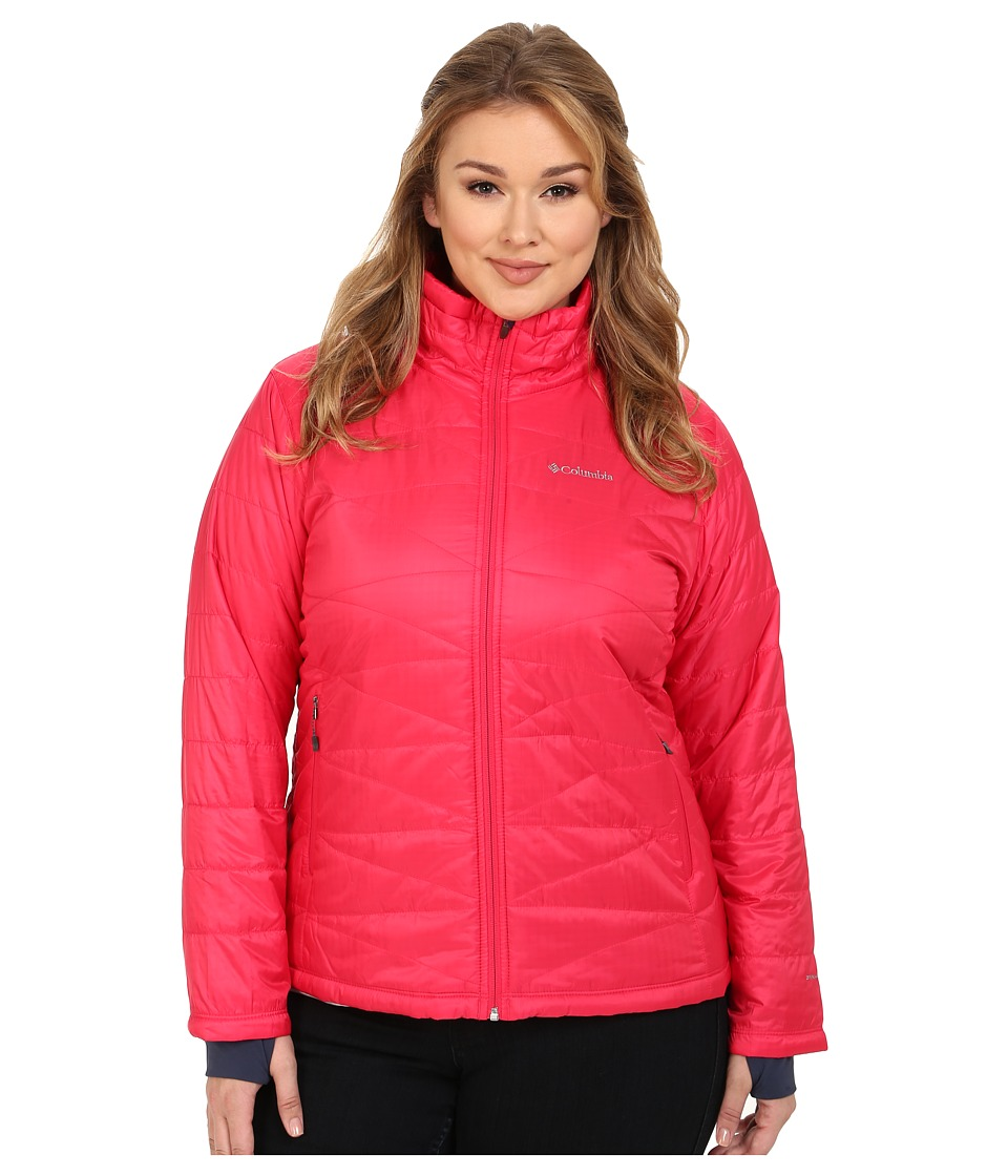 Columbia - Plus Size Mighty Lite III Jacket (Ruby Red) Women's Coat