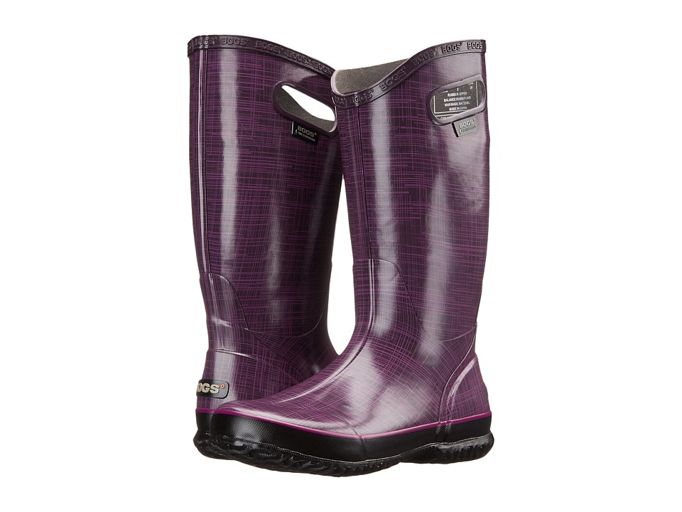 Bogs - Linen Rainboot (Purple) Women's Rain Boots