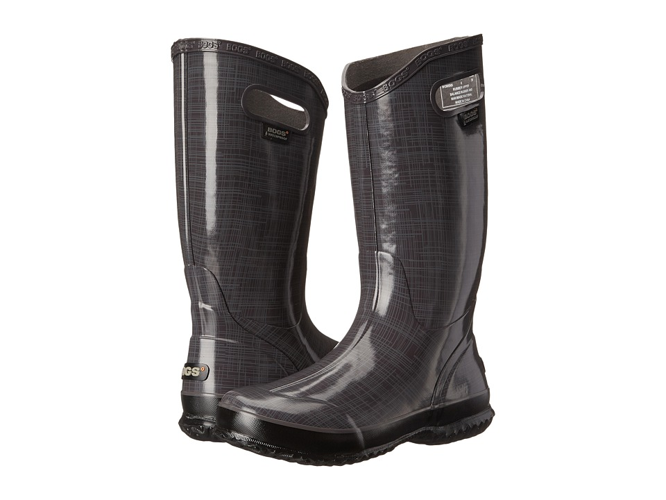 Bogs Linen Rainboot (Dark Gray) Women