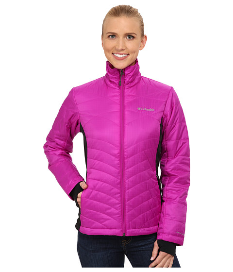Columbia - Mighty Lite Hybrid Jacket (Bright Plum/Black) Women's Coat