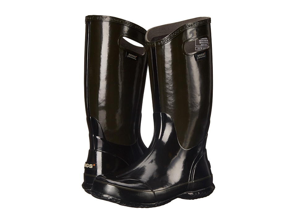 Bogs Classic Glosh Rainboot (Black Multi) Women