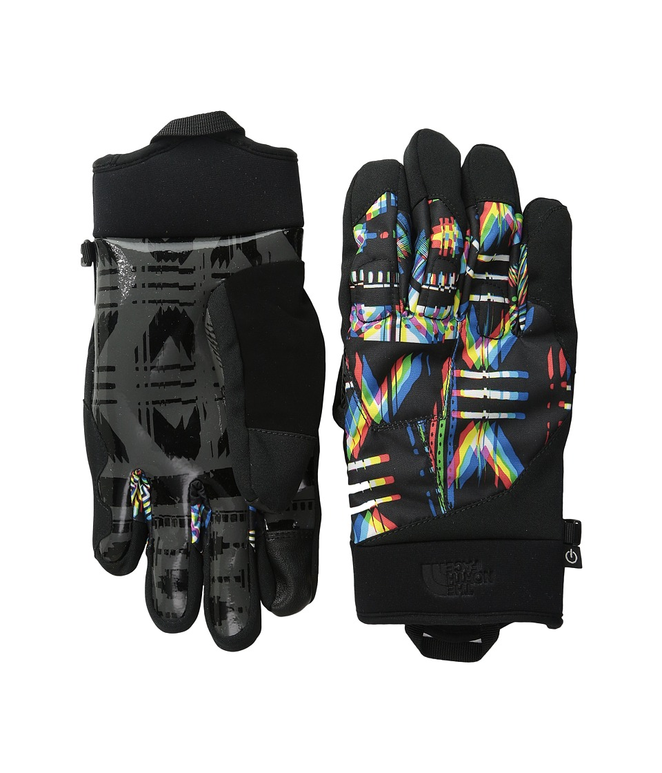 The North Face - Sierra Park Etiptm Glove (TNF Black/TNF Black Glitch Print (Prior Season)) Extreme Cold Weather Gloves