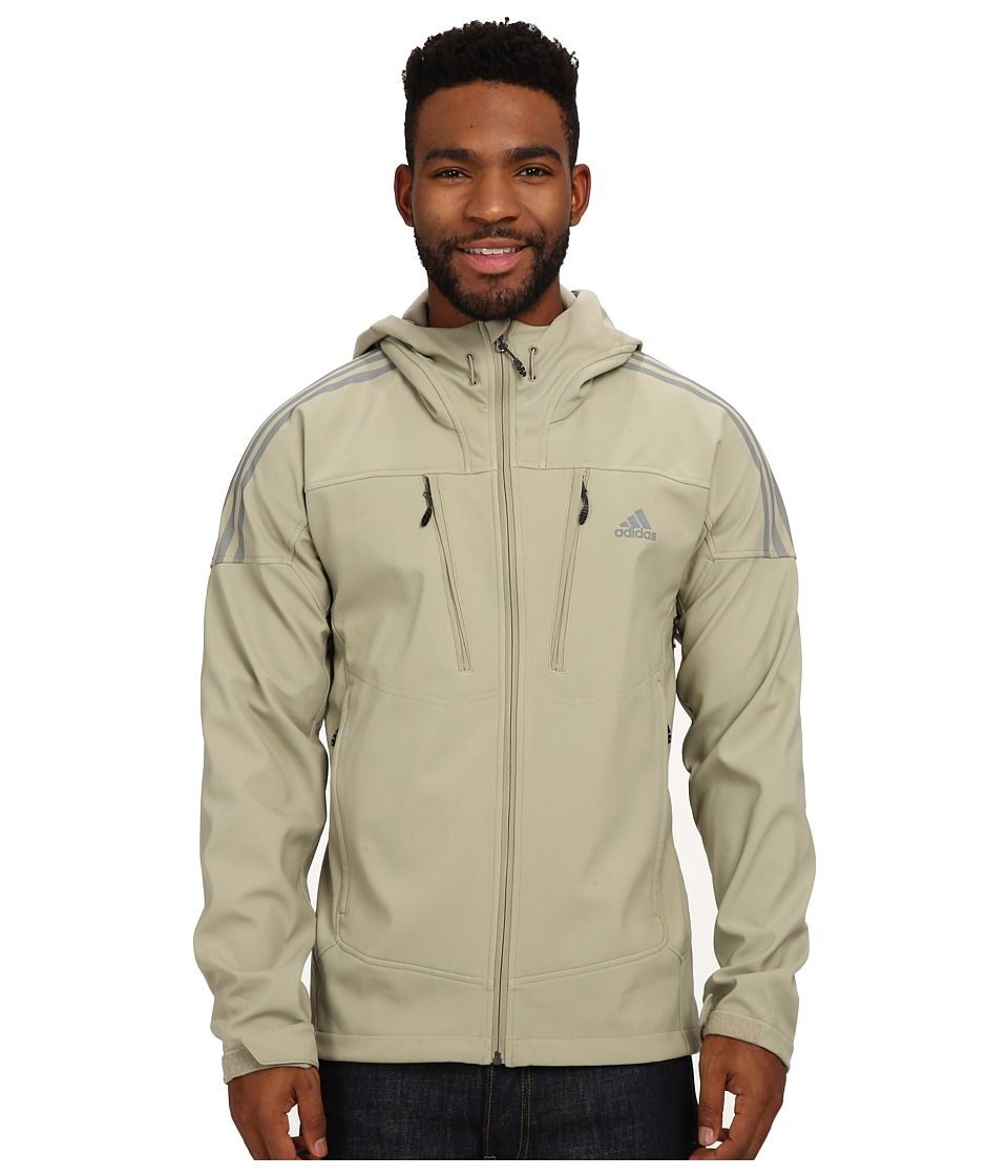 adidas Outdoor - Swift Soft Shell Hoodie (Tech Beige/Vista Grey) Men's Sweatshirt