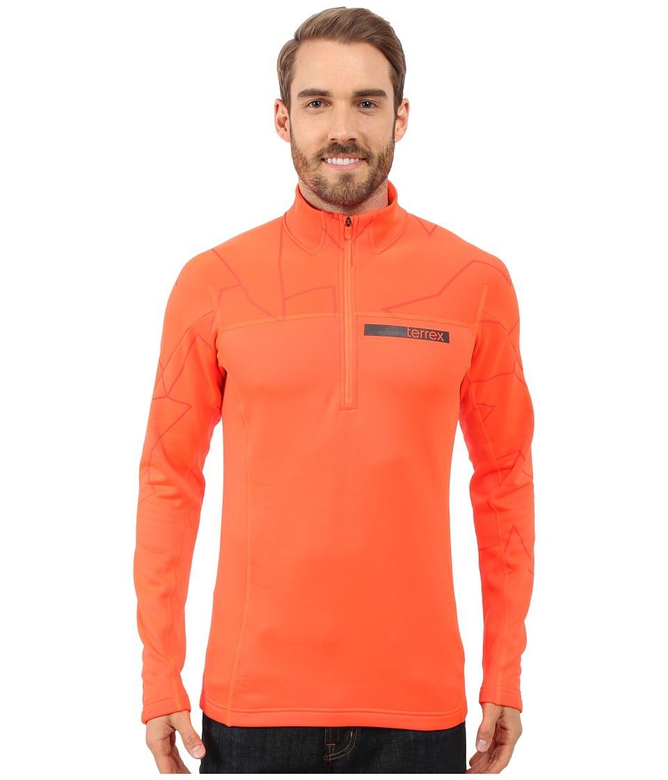adidas Outdoor - Terrex Icesky Long Sleeve II Top (Solar Red) Men's Long Sleeve Pullover