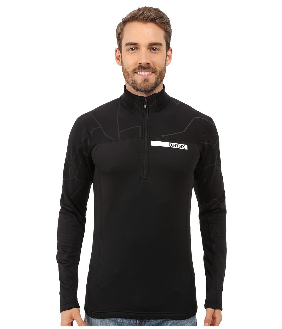 adidas Outdoor - Terrex Icesky Long Sleeve II Top (Black) Men's Long Sleeve Pullover