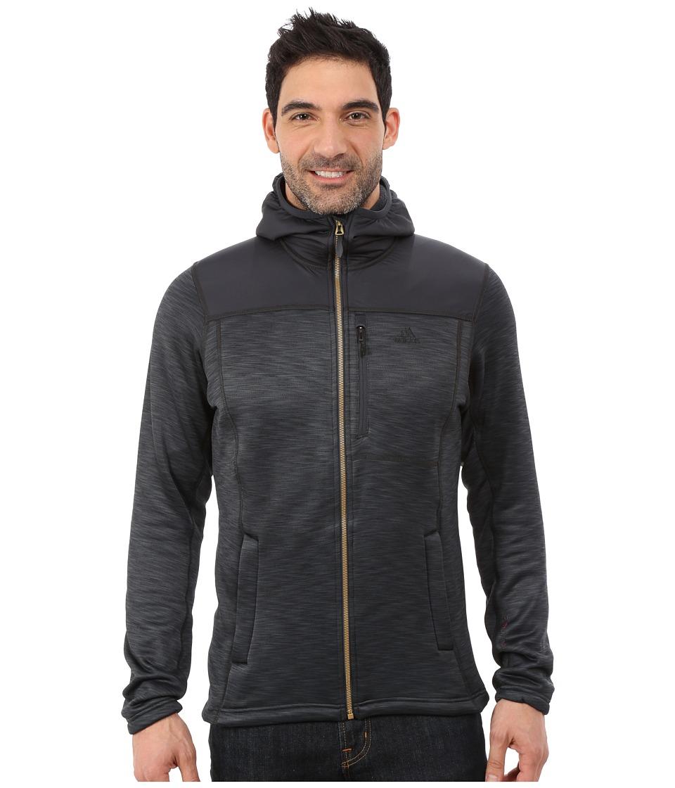 adidas Outdoor - Climaheat Hoodie (Dark Grey Heather) Men's Sweatshirt