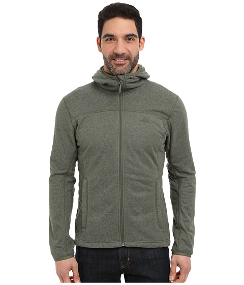 adidas Outdoor - Panto Fleece Hoodie (Base Green) Men's Sweatshirt