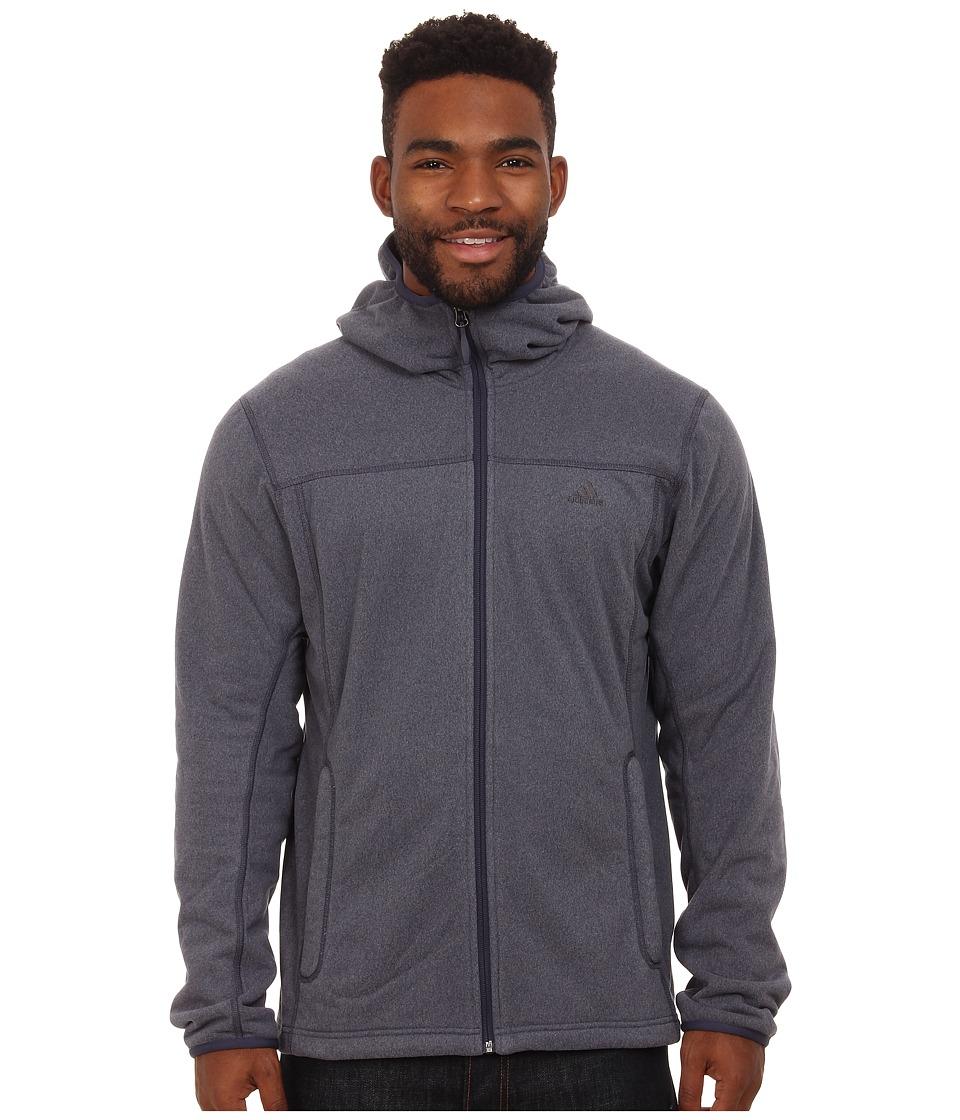 adidas Outdoor - Panto Fleece Hoodie (Midnight Grey) Men's Sweatshirt