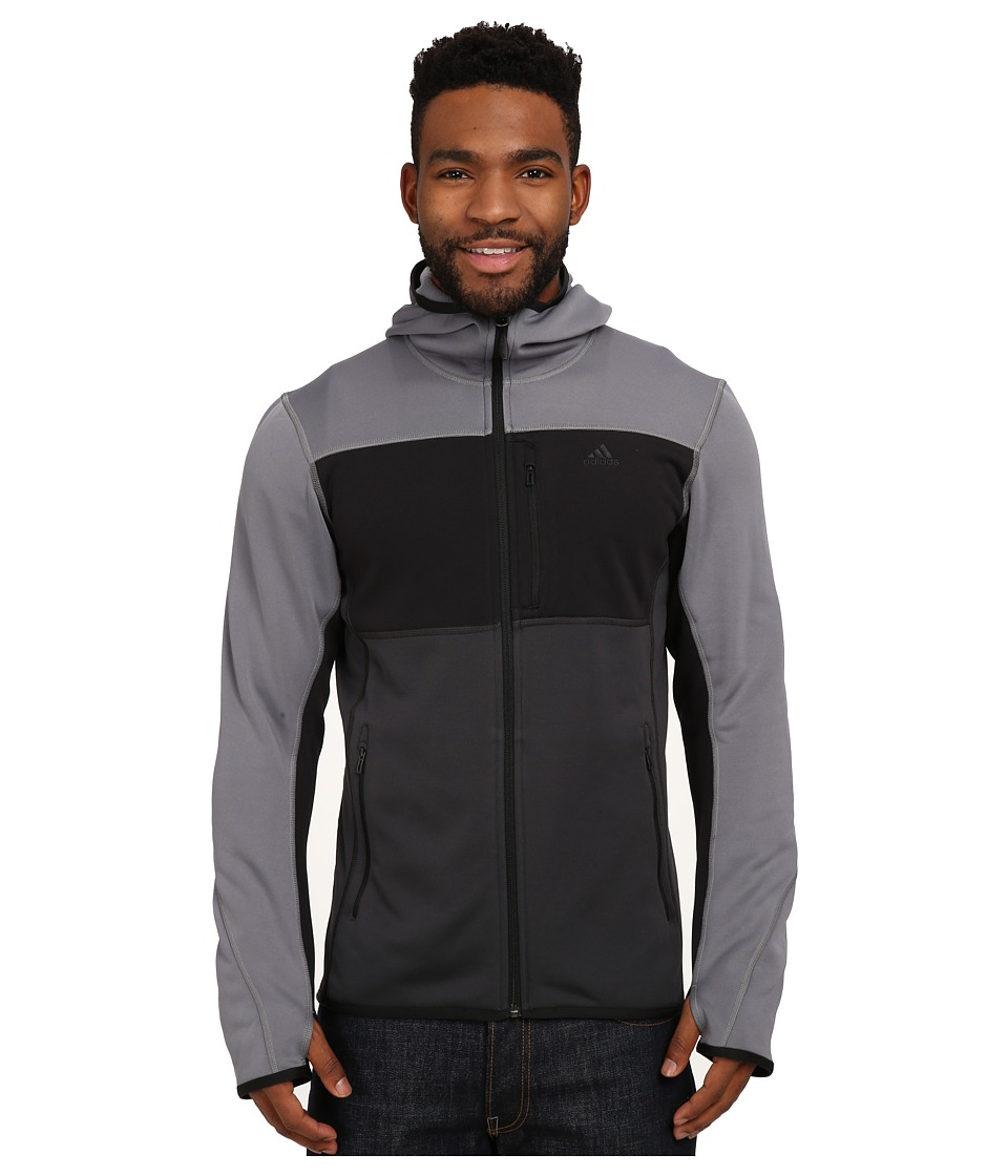 adidas Outdoor - Mountainglow Fleece Hoodie (Vista Grey/Black) Men's Sweatshirt