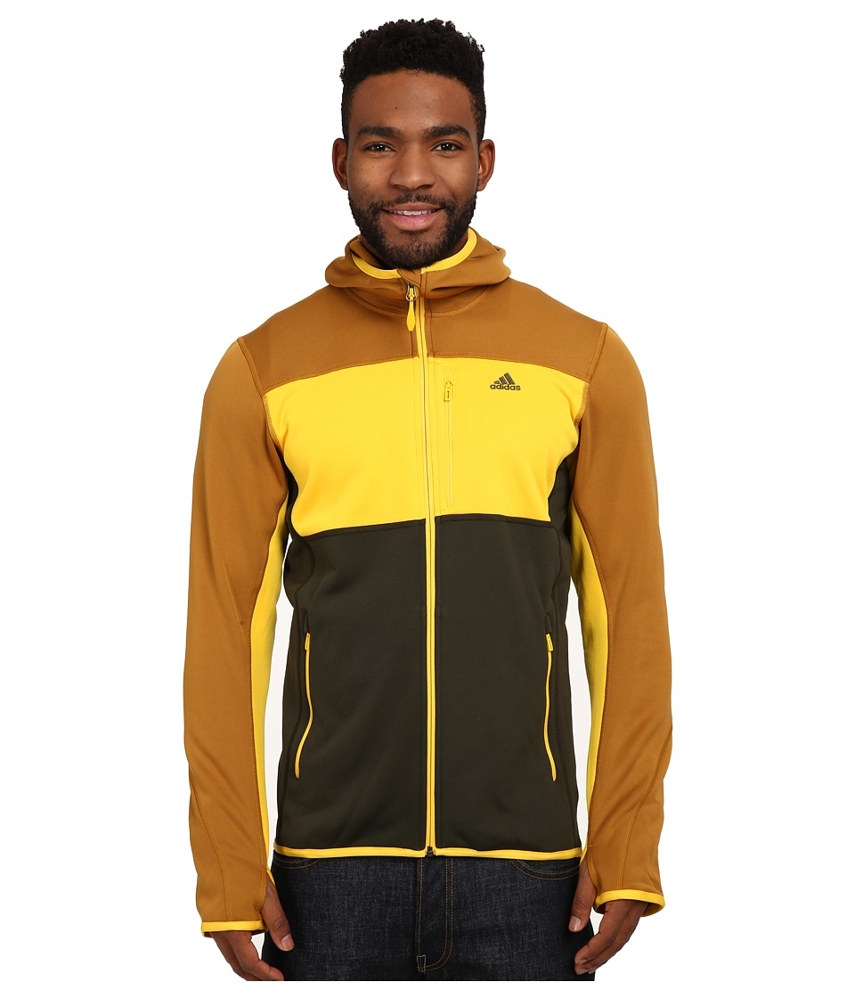 adidas Outdoor - Mountainglow Fleece Hoodie (Gold Ochre/Super Yellow) Men