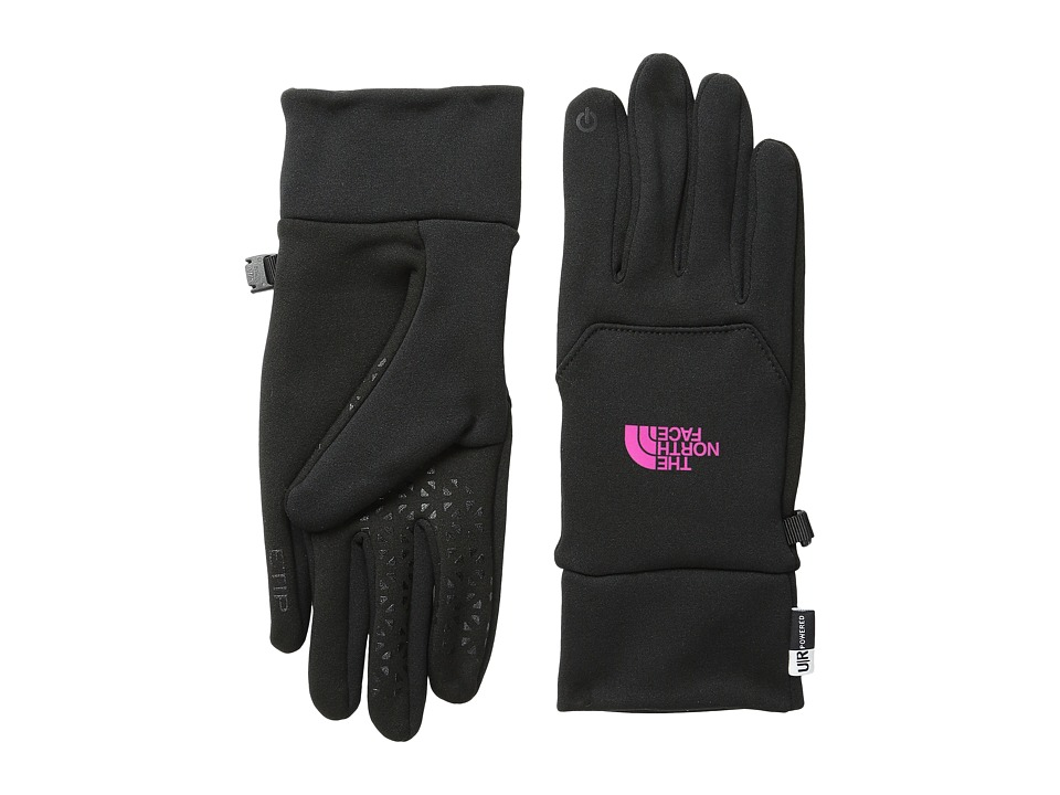 The North Face - Women's Etip Glove (TNF Black/Luminous Pink) Extreme Cold Weather Gloves