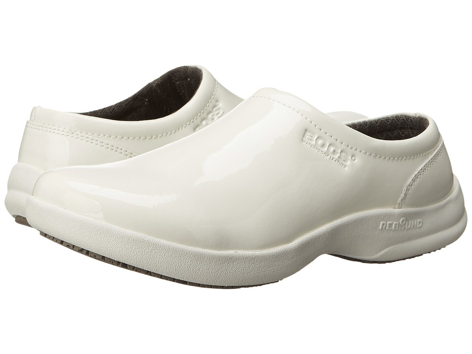 Bogs Ramsey Patent Leather (White) Women