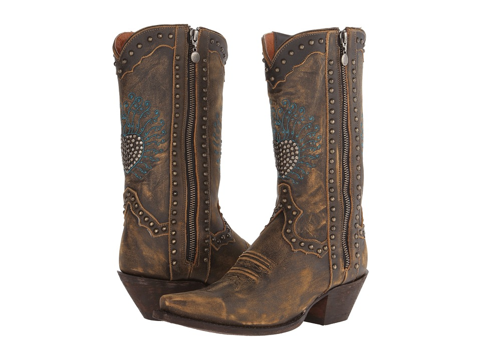 Dan Post - Heartbreaker (Brown Vintage Distressed) Cowboy Boots