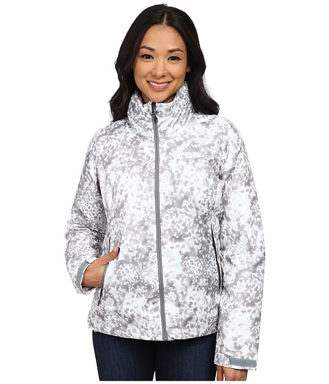 adidas Outdoor - Printed Insulated Wandertag Jacket (White) Women
