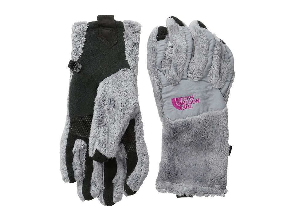 The North Face - Denali Thermal Etip Glove (Mid Grey/Luminous Pink) Extreme Cold Weather Gloves