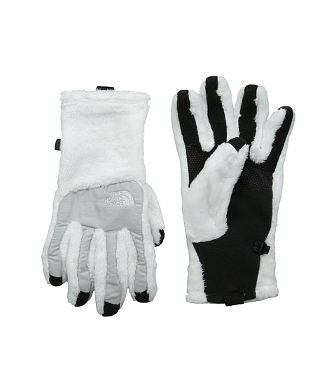 The North Face - Denali Thermal Etip Glove (TNF White/High Rise Grey Heather) Extreme Cold Weather Gloves