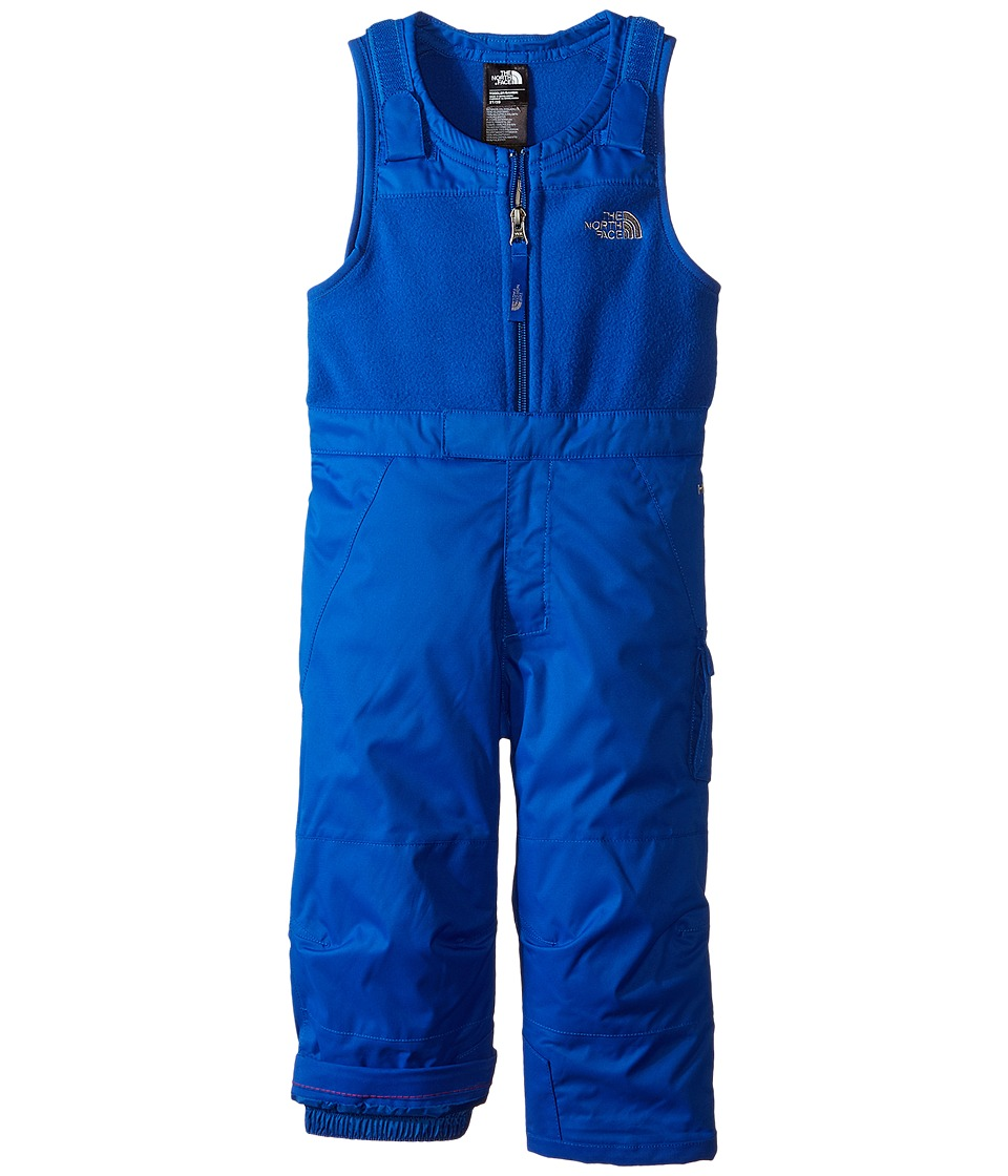 The North Face Kids - Insulated Snowdrift Bib w/ Boot Clip (Toddler) (Monster Blue) Boy's Snow Bibs One Piece