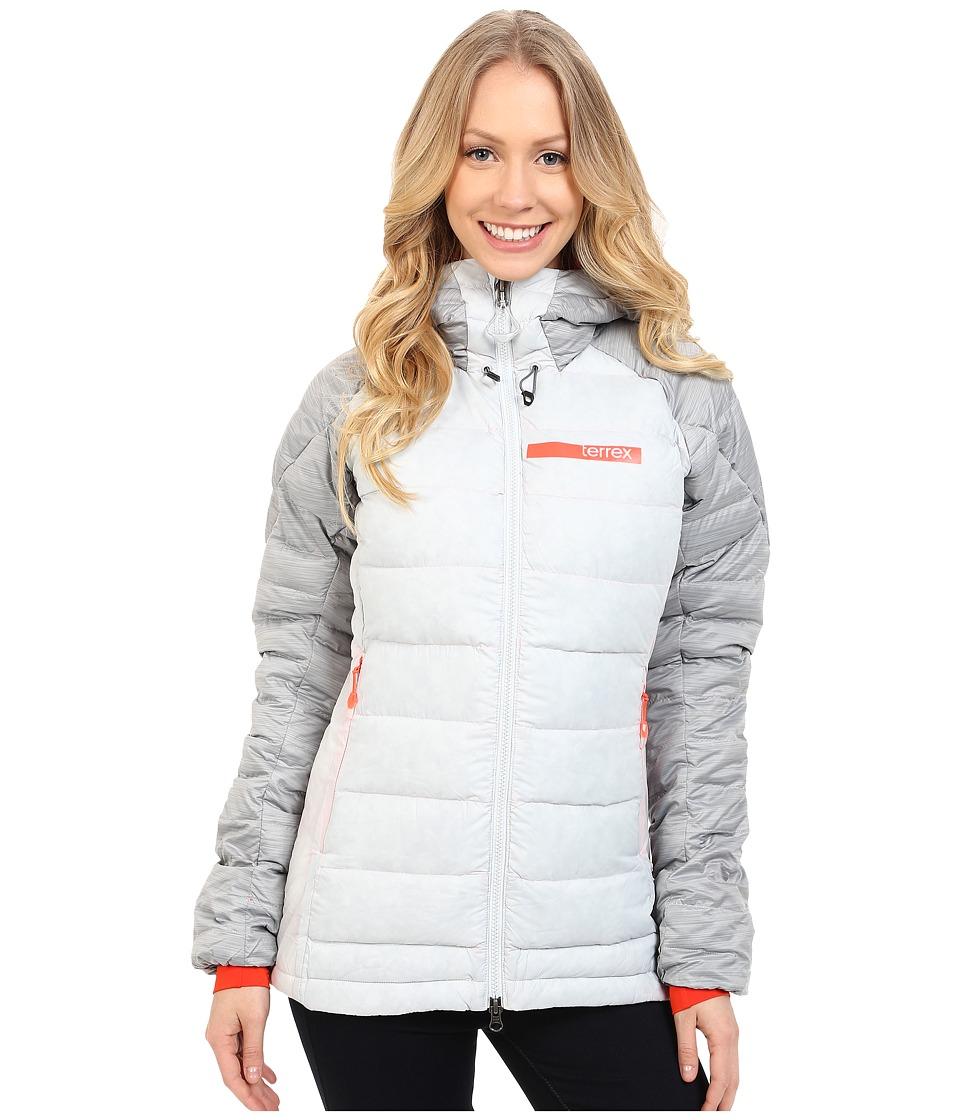 adidas Outdoor - Terrex Climaheat Down Jacket (Clear Grey) Women's Coat