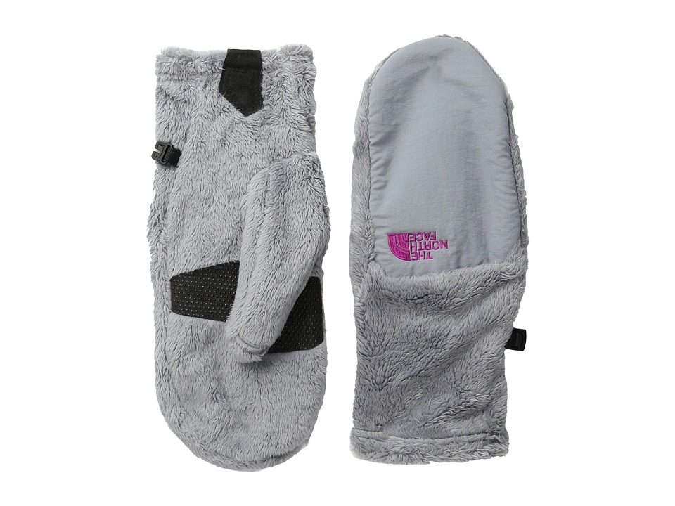 The North Face - Denali Thermal Mitt (Mid Grey/Luminous Pink) Extreme Cold Weather Gloves