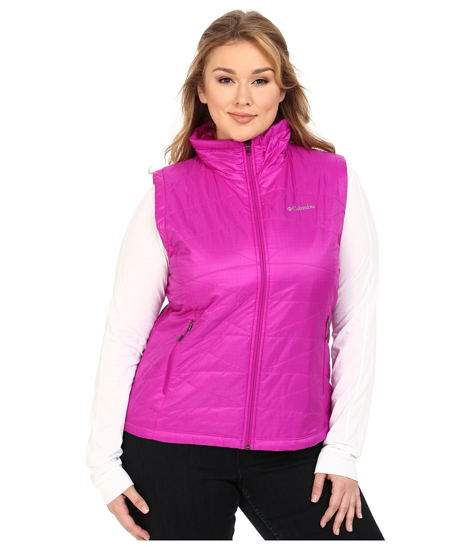 Columbia - Plus Size Mighty Lite III Vest (Bright Plum) Women's Coat