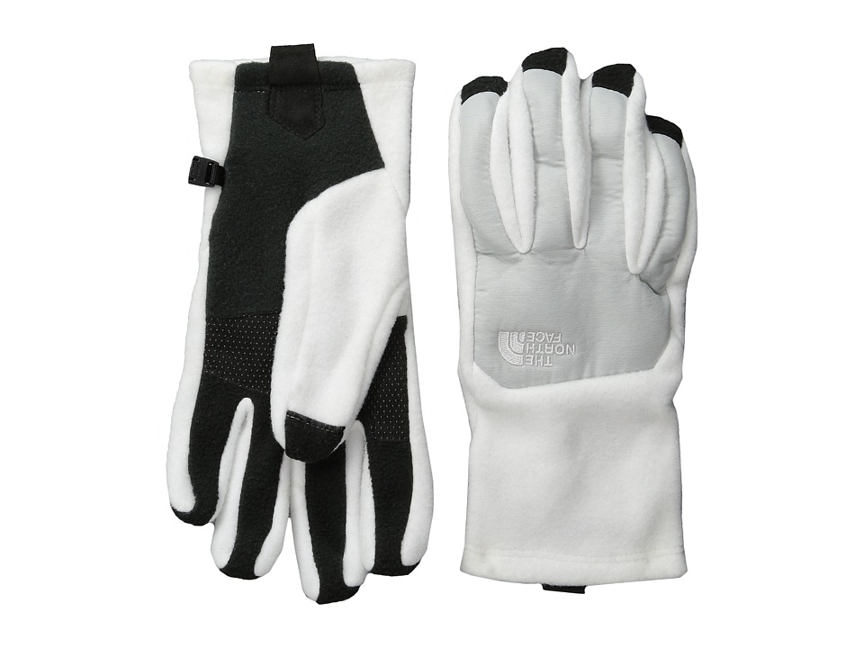 The North Face - Denali Etip Glove (TNF White/High Rise Grey Heather) Extreme Cold Weather Gloves