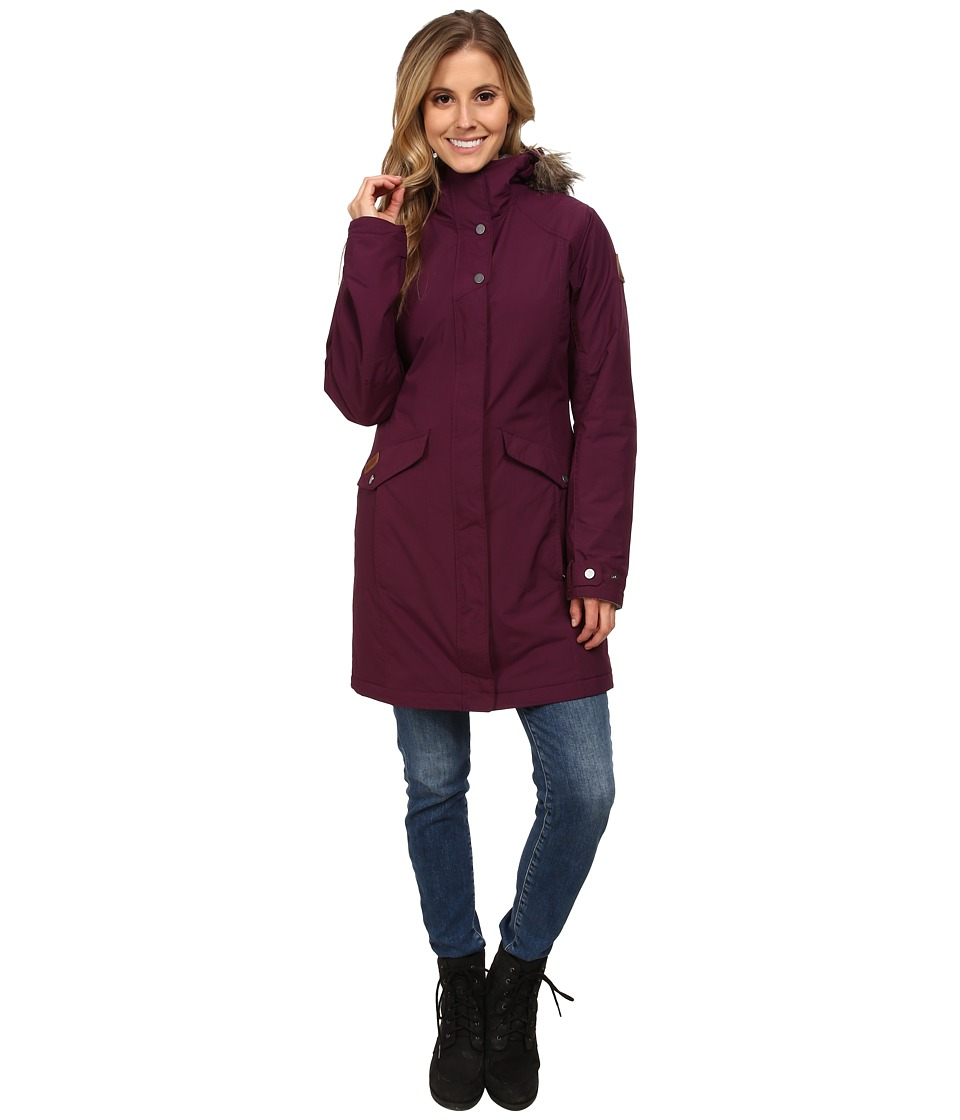 Columbia - Grandeur Peak Long Jacket (Purple Dahlia) Women's Coat