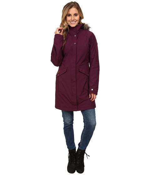 Columbia - Grandeur Peak Long Jacket (Purple Dahlia) Women's Coat