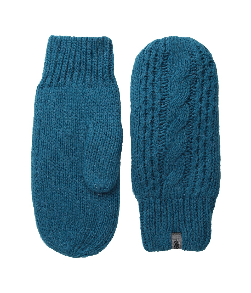 The North Face - Cable Knit Mitt (Juniper Teal) Extreme Cold Weather Gloves