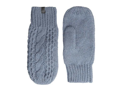 The North Face - Cable Knit Mitt (Dusty Blue) Extreme Cold Weather Gloves