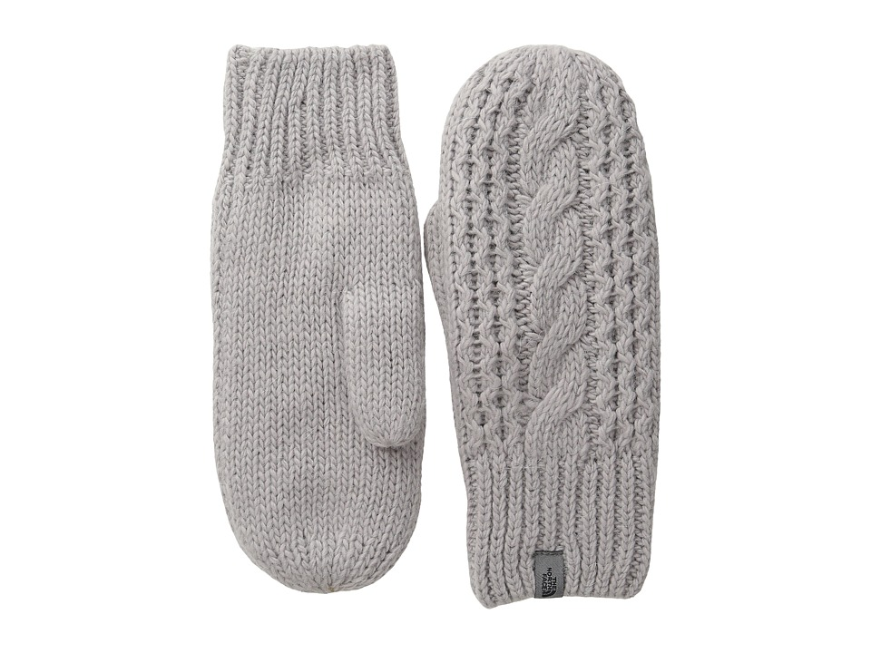 The North Face - Cable Knit Mitt (Metallic Silver) Extreme Cold Weather Gloves