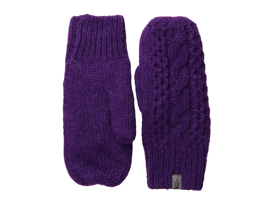 The North Face - Cable Knit Mitt (Gravity Purple) Extreme Cold Weather Gloves