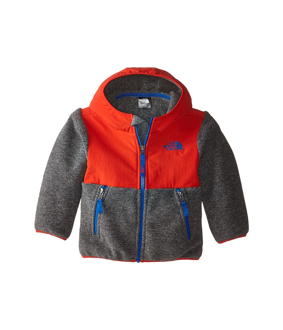 The North Face Kids - Denali Hoodie (Toddler) (Recycled Charcoal Grey/Fiery Red) Boy's Sweatshirt