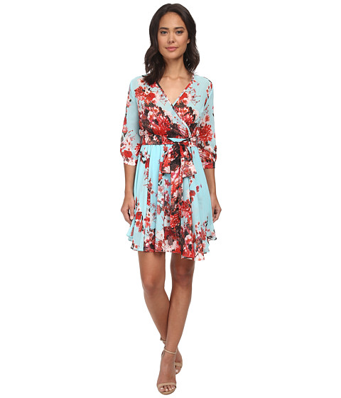 Gabriella Rocha - Hannah Chiffon Dress (Light Blue Floral) Women's Dress