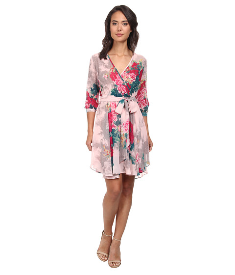 Gabriella Rocha - Hannah Chiffon Dress (Pink/Teal Floral) Women's Dress